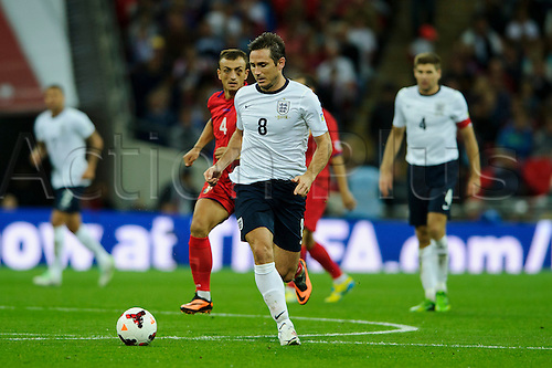 06.09.2013 London, England. England Midfielder Frank Lampard (Chelsea) in action during the second half of the 2014 FIFA World Cup Qualifier between England and Moldova at Wembley Stadium.