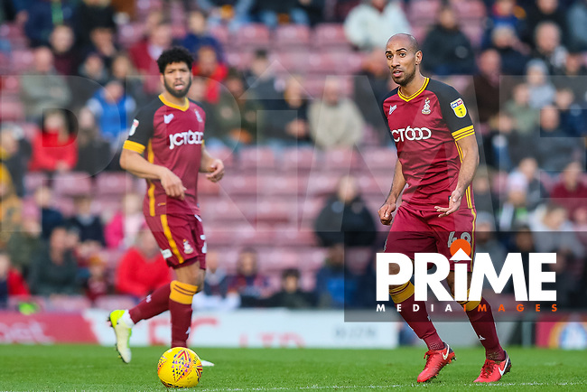 Karl Henry of Bradford City during the Sky Bet League 1 match between Bradford City and Oxford United at the Northern Commercial Stadium, Bradford, England on 24 November 2018. Photo by Thomas Gadd.