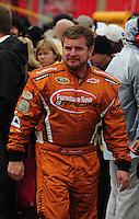 Feb 24, 2008; Fontana, CA, USA; NASCAR Sprint Cup Series driver Joe Nemechek during the Auto Club 500 at Auto Club Speedway. Mandatory Credit: Mark J. Rebilas-US PRESSWIRE