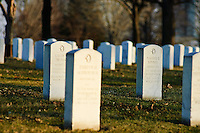 Grave markers at Fort Snelling National Cemetery in St. Paul, Minnesota. Fort Snelling is one of 125 national cemeteries in 39 states and Puerto Rico. As of 2007, there were 176,567 buried in the cemetery.