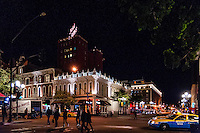 United States, California, San Diego. The Gaslamp Quarter is the historic heart of San Diego and is the center of downtown night life