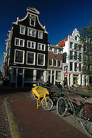 Classical houses  in Amsterdam, The Netherlands, Europe