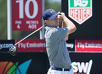 Jordan Spieth of the USA in action during his third round at the Emirates Australian Open Golf