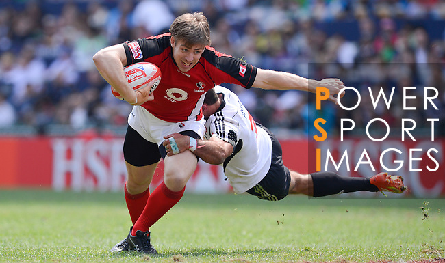 Canada vs Portugal on Day 3 of the 2012 Cathay Pacific / HSBC Hong Kong Sevens at the Hong Kong Stadium in Hong Kong, China on 25th March 2012. Photo © Victor Fraile / The Power of Sport Images