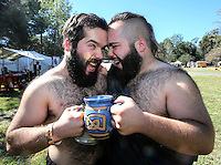 Oct. 31, 2015. Escondido,  CA. USA|Dylan Davidson, left, and David Davidson both of San Diego dress as Scottish mersenaries at the 16th Annual Escondido Renaissance Faire and Pirates in the Park held at Felicita Park Saturday .| Photos by Jamie Scott Lytle. Copyright.