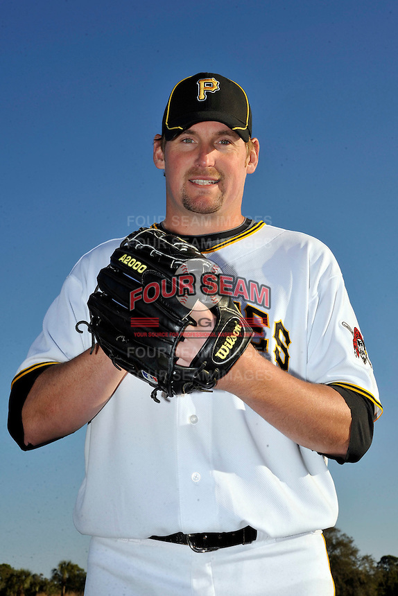 Feb 28, 2010; Bradenton, FL, USA; Pittsburgh Pirates  pitcher Jeremy Powell (37) during  photoday at Pirate City. Mandatory Credit: Tomasso De Rosa/ Four Seam Images