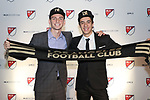 PHILADELPHIA, PA - JANUARY 19: Joao Moutinho (POR) (right) was taken with the first overall pick and Tristan Blackmon (left) was selected third by Los Angeles Football Club. The MLS SuperDraft 2018 presented by adidas was held on January 19, 2018 at the Pennsylvania Convention Center in Philadelphia, PA.