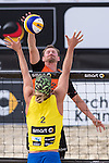 10.05.2015, Muenster, Schlossplatz<br /> smart beach tour, Supercup MŸnster / Muenster, Hauptfeld<br /> <br /> Block Stafford Slick - Angriff Kay Matysik <br /> <br />   Foto &copy; nordphoto / Kurth