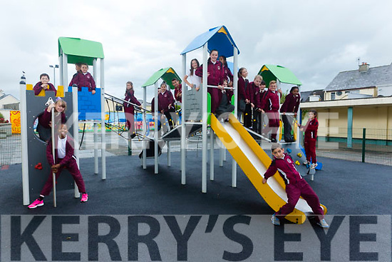 New Playground ready at Moyderwell Primary School 4th Class test it Out on Tuesday