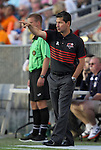 14 April 2012: Atlanta head coach Alex Pineda Chacon (HON). The Carolina RailHawks played the Atlanta Silverbacks to a 4-4 tie at WakeMed Soccer Stadium in Cary, NC in a 2012 North American Soccer League (NASL) regular season game.
