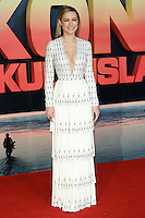 Brie Larson<br /> arrives for the &quot;Kong: Skull Island&quot; premiere, Empire Leicester Square, London.<br /> <br /> <br /> &copy;Ash Knotek  D3235  28/02/2017