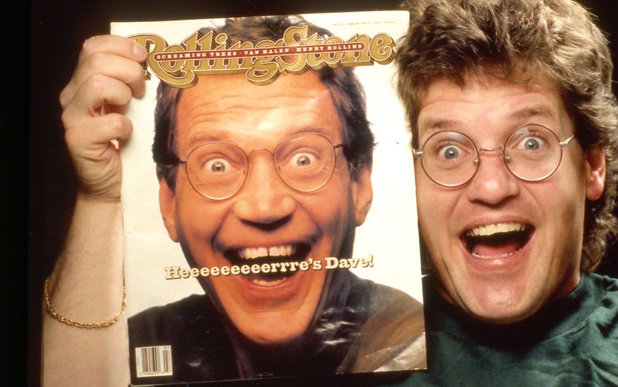 Gretchen Letterman's brother on the cover of Rolling Stone held by President Bill Clinton's brother.<br /> copyright Jim Mendenhall Los Angeles Times