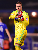 David Stockdale of Birmingham claps of the fans after the Sky Bet Championship match between Birmingham City and Sunderland at St Andrews, Birmingham, England on 30 January 2018. Photo by Bradley Collyer / PRiME Media Images.