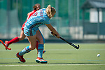 GER - Mannheim, Germany, May 05: During the women field hockey 1. Bundesliga match between Mannheimer HC (red) and Uhlenhorster HC Hamburg (light blue) on May 5, 2018 at Am Neckarkanal in Mannheim, Germany. Final score 1-3. (Photo by Dirk Markgraf / www.265-images.com) *** Local caption *** Hannah Seifert #9 of Uhlenhorster HC Hamburg