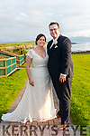 Claire O'Connor, daughter of Andrew and Carol, from Dingle, and Eoghan McIlroy, son of Maire Mhic Giolla Rua and Brian Caball, from Tralee, who were married in St. Mary's Church, Dingle, on Friday. The ceremony was celebrated by fr. Joe Begley. Best Man was Mike Moore, groomsmen were Declan O'Sullivan, Brian Óg Cable and Breandan Cable. Bridesmaids were Michelle O'Connor, Laura O'Connor and Erica Maher. The reception was held at the Skellig Hotel in Dingle.