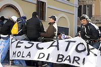 Roma, 25 Gennaio 2012.Piazza Montecitorio.Protesta dei pescatori d'Italia contro il caro carburante e le nuove regole dell'Unione Europea.
