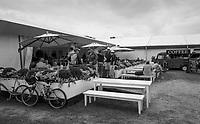 Henley-on-Thames. United Kingdom.  Regatta Cafe, 2017 Henley Royal Regatta, Henley Reach, River Thames. <br /> <br /> 10:32:00  Tuesday  27/06/2017   <br /> <br /> [Mandatory Credit. Peter SPURRIER/Intersport Images.