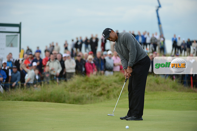 Tiger Woods (USA) on the 15th during round 2 of THE 141st OPEN CHAMPIONSHIP, Royal Lytham & St Annes GC,Lytham St Annes,Lancashire,England. 20/07/2012.Picture Fran Caffrey www.golffile.ie