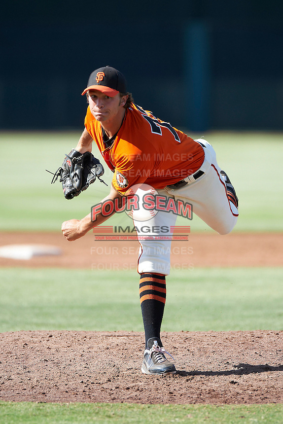 San Francisco Giants minor league pitcher Andrew Leenhouts #72 during an instructional league game against the Kansas City Royals at the Giants Baseball Complex on October 18, 2012 in Scottsdale, Arizona. (Mike Janes/Four Seam Images)
