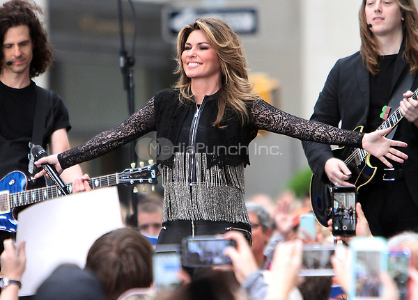 NEW YORK, NY - JUNE 16: Shania Twain performs on the Today Show Citi Concert Series in New York June 16, 2017. Credit: RW/MediaPunch