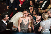 Gal Gadot and Jimmy Kimmel during the live ABC Telecast of The 90th Oscars&reg; at the Dolby&reg; Theatre in Hollywood, CA on Sunday, March 4, 2018.<br /> *Editorial Use Only*<br /> CAP/PLF/AMPAS<br /> Supplied by Capital Pictures