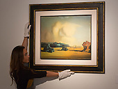 Pictured: Moment de Transition 1934 by Dali. Estimated to fetch $10-15 million. <br /> <br /> Christie's London unveils touring highlights from the New York &quot;Impressionist &amp; Modern Art Evening Sale&quot; which are on free public view from 28 March to 1 April, ahead of the auction in New York on 6 May 2014.