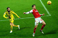 Fleetwood Town's Lewis Coyle competes with Burton Albion's John Brayford<br /> <br /> Photographer Richard Martin-Roberts/CameraSport<br /> <br /> The EFL Sky Bet League One - Saturday 15th December 2018 - Fleetwood Town v Burton Albion - Highbury Stadium - Fleetwood<br /> <br /> World Copyright &not;&copy; 2018 CameraSport. All rights reserved. 43 Linden Ave. Countesthorpe. Leicester. England. LE8 5PG - Tel: +44 (0) 116 277 4147 - admin@camerasport.com - www.camerasport.com