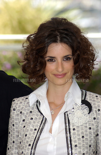 Actress PENELOPE CRUZ at the photocall in Cannes for her new movie Fanfan La Tulipe, which opens the 56th Cannes Film Festival..14MAY2003 © Paul Smith / Featureflash