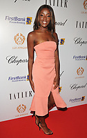 AJ Odudu at the Lux Afrique gala dinner, Claridge's Hotel, Brook Street, London, England, UK, on Sunday 01 October 2017.<br /> CAP/CAN<br /> &copy;CAN/Capital Pictures