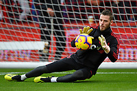 David De Gea of Manchester United warms up during AFC Bournemouth vs Manchester United, Premier League Football at the Vitality Stadium on 3rd November 2018