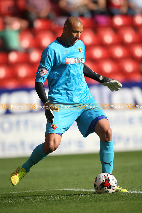Heurelho Gomes of Watford - Charlton Athletic vs Watford - Sky Bet Championship Football at the Valley, Charlton, London - 13/09/14 - MANDATORY CREDIT: George Phillipou/TGSPHOTO - Self billing applies where appropriate - contact@tgsphoto.co.uk - NO UNPAID USE