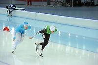 SPEEDSKATING: SOCHI: Adler Arena, 19-03-2013, Training, Maurice Vriend (NED), Jan Blokhuijsen (NED), © Martin de Jong