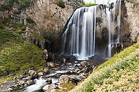 Dunanda Falls flows in the Bechler region of Yellowstone National Park.