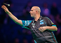 12th March 2020; M and S Bank Arena, Liverpool, Merseyside, England; Professional Darts Corporation, Unibet Premier League Liverpool; Rob Cross during his night six match against Stephen Bunting