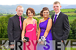 Pictured at the Causeway Comprehensive School Debs at the Ballyroe Heights Hotel on Thursday were, from left: Dylan Goggin, Hannah O'Halloran, Lorraine Hobbert and Mark Baker.