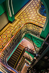 Interior stairwell in the Queen Victoria Building in Sydney, NSW, Australia.
