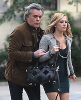 NEW YORK, NY-October 26: Ray Liotta, Natalie Hall shooting on location for new season of Shades of Blue in New York.October 26, 2016. Credit:RW/MediaPunch