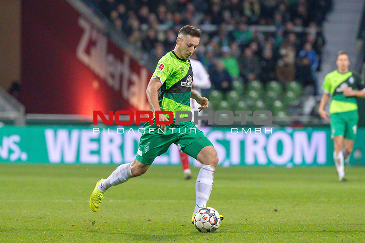 10.02.2019, Weser Stadion, Bremen, GER, 1.FBL, Werder Bremen vs FC Augsburg, <br /> <br /> DFL REGULATIONS PROHIBIT ANY USE OF PHOTOGRAPHS AS IMAGE SEQUENCES AND/OR QUASI-VIDEO.<br /> <br />  im Bild<br /> Kevin M&ouml;hwald / Moehwald (Werder Bremen #06)<br /> <br /> <br /> Foto &copy; nordphoto / Kokenge