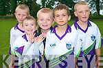 Potential GAA players developed their talent at Currow GAA Cu?l Camp. .Back L-R Shane Warren, Dan Daly and John Curtin .Front L-R Isaac O'Rourke and Mossie Brosnan.