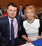 IHF- REPRO FREE HOTELIERS CONFERENCE KILLARNEY: .Nicky Logue and Eithne Scott-Lennon from Fitzpatrick's Castle Hotel, Killiney pictured at the IHF conference in The Malton Hotel, Killarney on Monday..Picture by Don MacMonagle...PR photo IHF