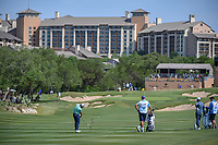 Stephan Jaeger (GER) hits his approach shot on 15 during Round 1 of the Valero Texas Open, AT&amp;T Oaks Course, TPC San Antonio, San Antonio, Texas, USA. 4/19/2018.<br /> Picture: Golffile | Ken Murray<br /> <br /> <br /> All photo usage must carry mandatory copyright credit (&copy; Golffile | Ken Murray)