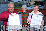 Tommy Doran, Rose Foran and Vera O'Connor, Allmans Terrace, Killarney, who received letters Killarney Town Council informing them of a new sewerage scheme that was to take place in the area and a letter from Healy-Rae plant hire requesting money to do the work.....