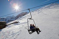 Ski lift at Bonneval sur Arc, Savoie, France, 17 February 2012.