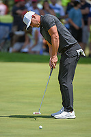 Brooks Koepka (USA) barely misses his putt on 7 during 3rd round of the World Golf Championships - Bridgestone Invitational, at the Firestone Country Club, Akron, Ohio. 8/4/2018.<br /> Picture: Golffile | Ken Murray<br /> <br /> <br /> All photo usage must carry mandatory copyright credit (© Golffile | Ken Murray)