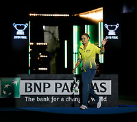 9th November 2019; RAC Arena, Perth, Western Australia, Australia; Fed Cup by BNP Paribas Tennis Final, Day 1, Australia versus France; Ash Barty of Australia enters the arena
