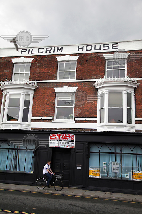 Pilgrim House, a building recalling the town's history as a place of departure to the Americas. <br /> The town of Boston had the country's highest proportion of 'leave' votes cast in the EU referendum with almost 76 percent of ballots cast for Brexit. Lincolnshire has, in recent years, seen an influx of EU workers drawn to the area's agricultural industry. The 2011 census found about 13 percent of Boston's residents were born in Eastern Europe and migrated to the UK since 2004.
