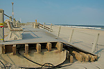 Hurricane Irene battered the New Jersey coastline smashing sections of the boardwalk in Spring Lake.