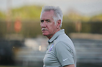 Piscataway, NJ - Wednesday Sept. 07, 2016: Tom Sermanni prior to a regular season National Women's Soccer League (NWSL) match between Sky Blue FC and the Orlando Pride FC at Yurcak Field.