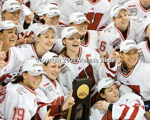 - The University of Wisconsin Badgers defeated the Mercyhurst College Lakers 5-0 to win the 2009 NCAA D1 National Championship in the Frozen Four final game at Agganis Arena, in Boston, Massachusetts, on Sunday, March 22, 2009.