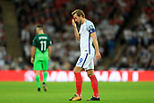 5th October 2017, Wembley Stadium, London, England; FIFA World Cup Qualification, England versus Slovenia; A dejected Harry Kane, the England captain after a missed opportunity